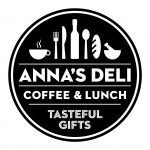 Having lunch at Anna's Deli- a wonderful spot at the Hague Central!