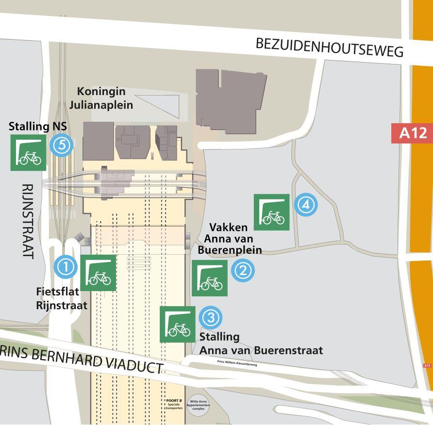 plattegrond fietsenstalling